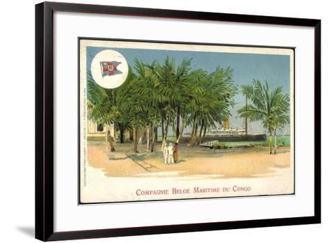 K?nstler Compagnie Belge Maritime Du Congo, Vapeur--Framed Art Print