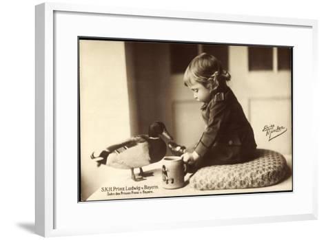 Prinz Ludwig Von Bayern, Sohn Des Prinzen Franz Von Bayern, Stockente--Framed Art Print