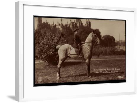 Erbgroßherzog Friedrich Franz Von Mecklenburg Schwerin, Npg 6423, Pferd--Framed Art Print