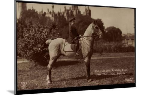 Erbgroßherzog Friedrich Franz Von Mecklenburg Schwerin, Npg 6423, Pferd--Mounted Giclee Print