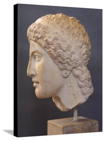 Female Head Sculpture, from Heraion of Argos, Greece,5th Century BC, Ancient Greece--Stretched Canvas Print