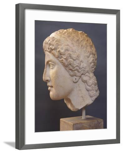 Female Head Sculpture, from Heraion of Argos, Greece,5th Century BC, Ancient Greece--Framed Art Print