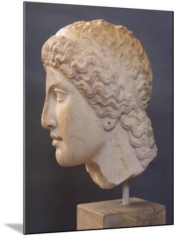 Female Head Sculpture, from Heraion of Argos, Greece,5th Century BC, Ancient Greece--Mounted Giclee Print