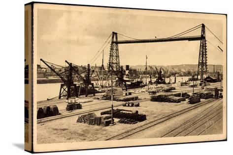 Rouen Seine Maritime, Le Pont Transbordeur--Stretched Canvas Print