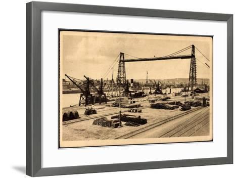 Rouen Seine Maritime, Le Pont Transbordeur--Framed Art Print
