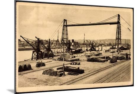 Rouen Seine Maritime, Le Pont Transbordeur--Mounted Giclee Print