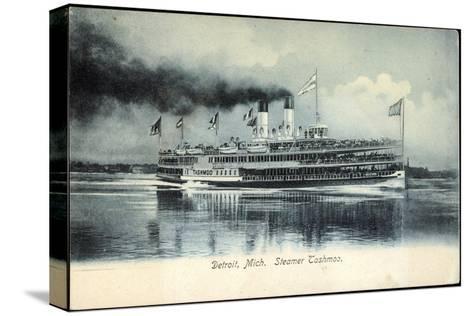 Detroit Michigan, Steamer Tashmoo, Raddampfer--Stretched Canvas Print
