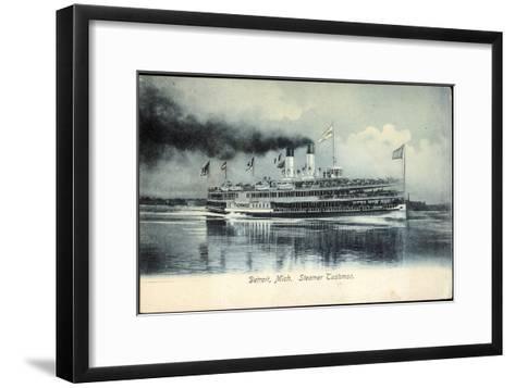 Detroit Michigan, Steamer Tashmoo, Raddampfer--Framed Art Print