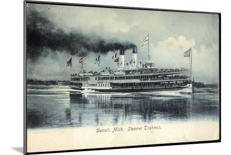 Detroit Michigan, Steamer Tashmoo, Raddampfer--Mounted Giclee Print