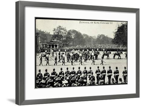 Funeral of King Edward 7, 20th May 1910, Gun Carriage--Framed Art Print
