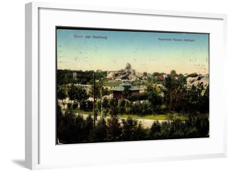Hamburg Stellingen, Blick Zu Hagenbecks Tierpark, Gehege--Framed Art Print