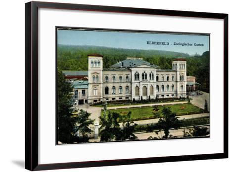 Elberfeld Wuppertal, Blick Auf Den Zoologischen Garten--Framed Art Print