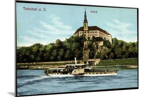 Tetschen Ústecký Kraj, Dampfer König Albert, Schloß--Mounted Giclee Print