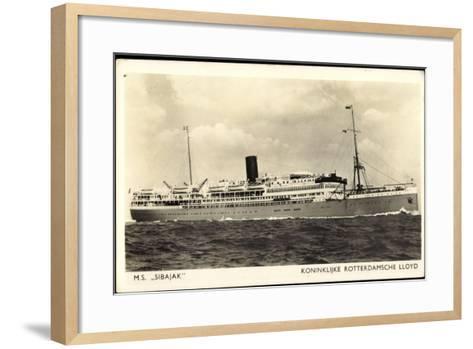 Dampfer M.S. Sibaj, Rotterdamsche Lloyd--Framed Art Print