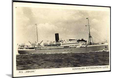 Dampfer M.S. Sibaj, Rotterdamsche Lloyd--Mounted Giclee Print