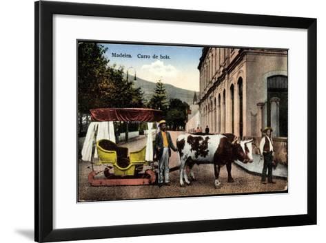 Madeira Portugal, Carro De Bois, Ochsenkarren Auf Schlitten--Framed Art Print