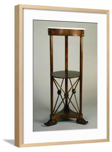 Charles X Style Circular Walnut Gueridon with Marble Top, 19th Century--Framed Art Print