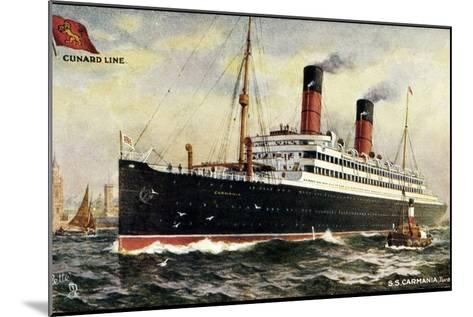 K?nstler Cunard Line, S.S. Carmania, Dampfschiff--Mounted Giclee Print