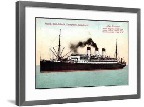 Dampfer Cap Polonio Der Hsdg Auf Hoher See--Framed Art Print