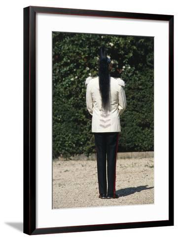 Italy, Soldier Wearing Summer Uniform at Cuirassiers Gala--Framed Art Print