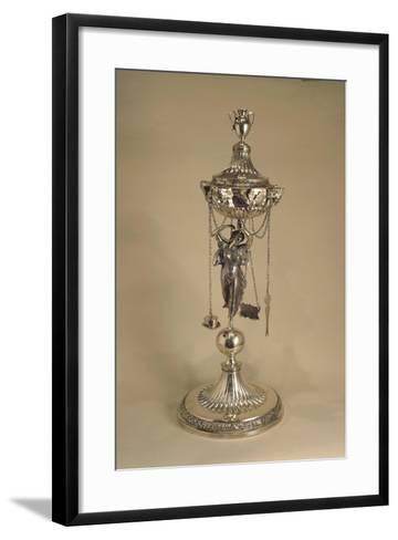 Silver Neoclassical Style Oil Lamp, Venetian Manufacturing--Framed Art Print