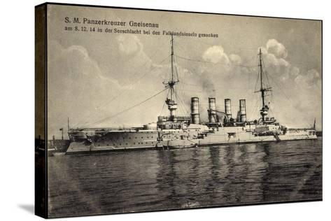 S. M. Panzerkreuzer Gneisenau, Falklandinseln 1914--Stretched Canvas Print
