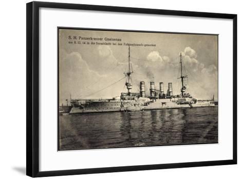 S. M. Panzerkreuzer Gneisenau, Falklandinseln 1914--Framed Art Print