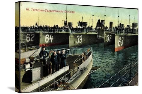 Eine Deutsche Torpedoboots Division,L20990--Stretched Canvas Print