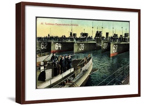 Eine Deutsche Torpedoboots Division,L20990--Framed Art Print