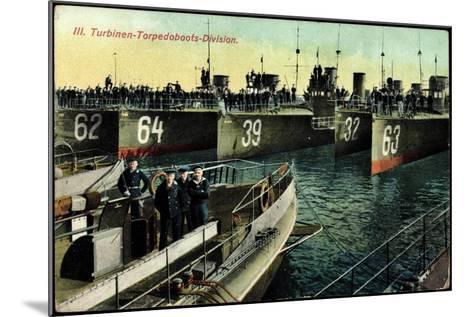 Eine Deutsche Torpedoboots Division,L20990--Mounted Giclee Print