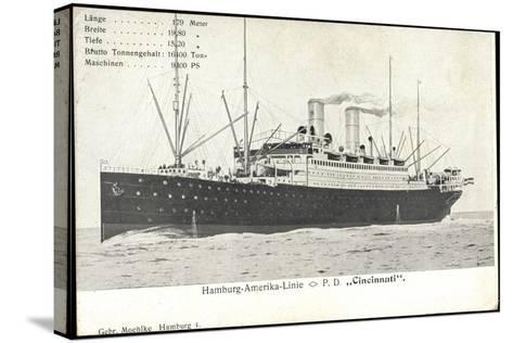 Hapag, Dampfschiff Cincinnati, Transantlantik--Stretched Canvas Print