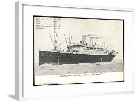 Hapag, Dampfschiff Cincinnati, Transantlantik--Framed Art Print