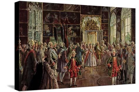 Künstler Benois A., Paradeaufzug Der Kaiserin--Stretched Canvas Print