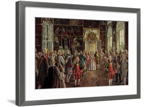 Künstler Benois A., Paradeaufzug Der Kaiserin--Framed Art Print