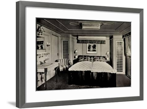 Hapag, Dampfer Deutschland Von Innen, Luxuskabine--Framed Art Print