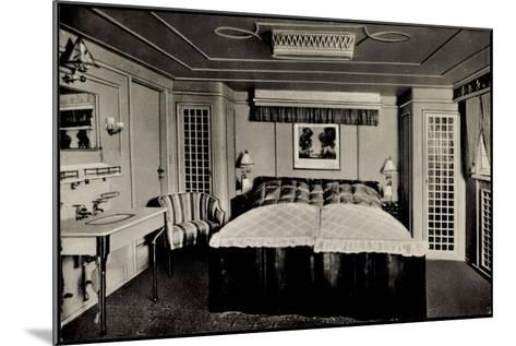 Hapag, Dampfer Deutschland Von Innen, Luxuskabine--Mounted Giclee Print