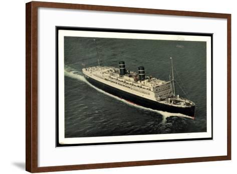 Ward Line, Morro Castle Oriente, Dampfschiff--Framed Art Print