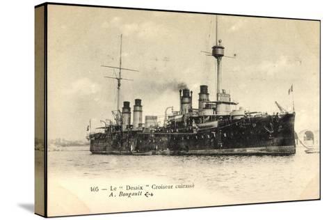 Le Desaix Beim Einlauf in Den Hafen, Kriegsschiff--Stretched Canvas Print