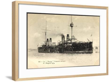 Le Desaix Beim Einlauf in Den Hafen, Kriegsschiff--Framed Art Print