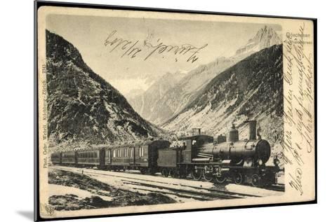 Eisenbahnen, Schweiz, Göschenen, Gotthardexpress,Lok--Mounted Giclee Print