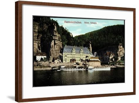 Herrnskretschen Region Aussig, Dampfer Schandau--Framed Art Print
