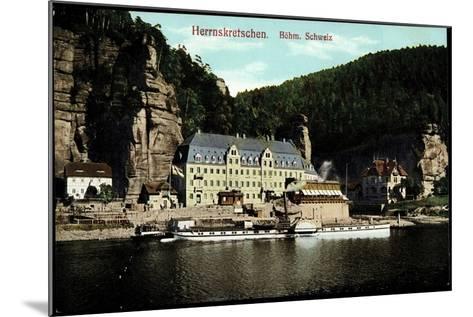 Herrnskretschen Region Aussig, Dampfer Schandau--Mounted Giclee Print