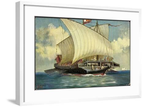 Künstler Rave, C., Segelschiff,Venezianische Galeere--Framed Art Print
