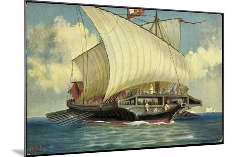 Künstler Rave, C., Segelschiff,Venezianische Galeere--Mounted Giclee Print