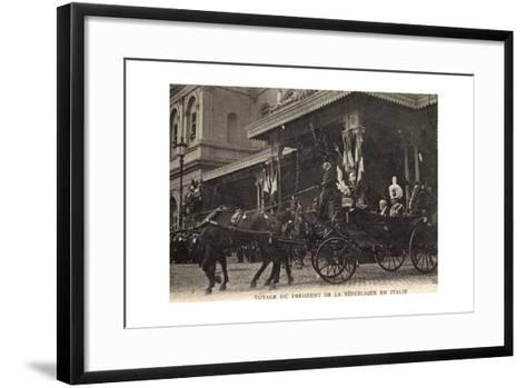 Rom, Voyage Du Président, Roi D'Italie, Quittent Gare--Framed Art Print