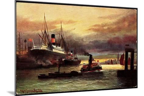 Künstler Morgenstimmung Im Hafen, Tsn Serie 705--Mounted Giclee Print