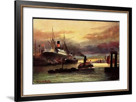 Künstler Morgenstimmung Im Hafen, Tsn Serie 705--Framed Art Print