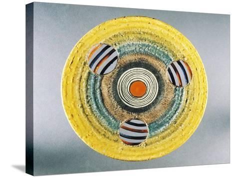 Futurist Dish, Ceramic, Albisola Manufacture, Liguria, Italy--Stretched Canvas Print