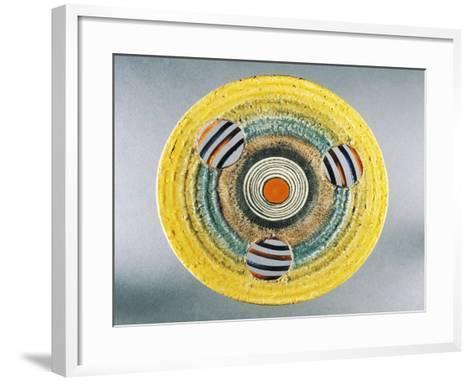 Futurist Dish, Ceramic, Albisola Manufacture, Liguria, Italy--Framed Art Print