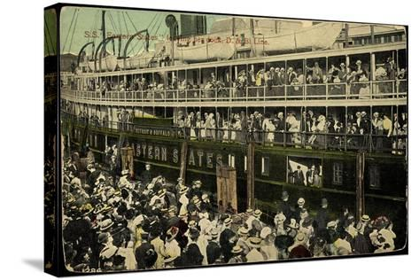 S.S. Eastern States, D&B Line, Dampfschiff--Stretched Canvas Print